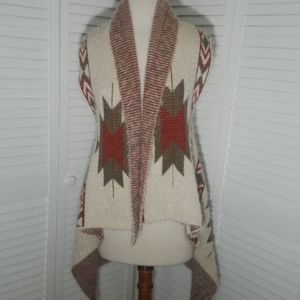 NWOT FREE PEOPLE MARINO WOOL assymetrical vestcape